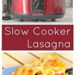 Easy Slow Cooker Lasagna Recipe