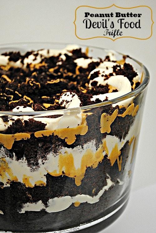 peanut butter devil's food chocolate cake trifle