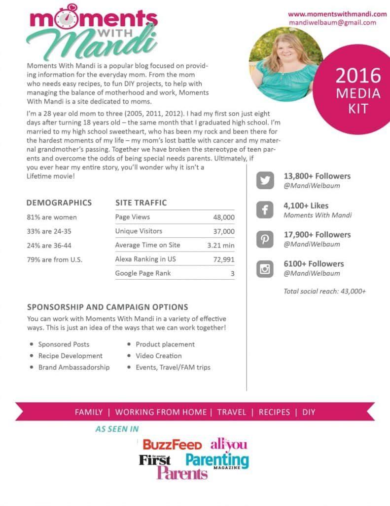 Moments With Mandi 2016 Media Kit June