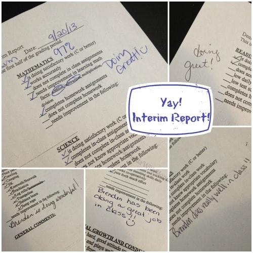 new school interim report