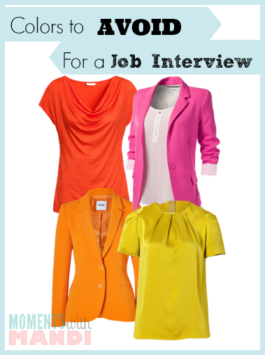 Colors to avoid wearing for a job interview