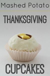 Thanksgiving Mashed Potato Cupcakes