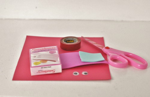 DIY Love Monster Candy Box Valentine's materials