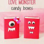 DIY Love Monster Candy Box Valentine's