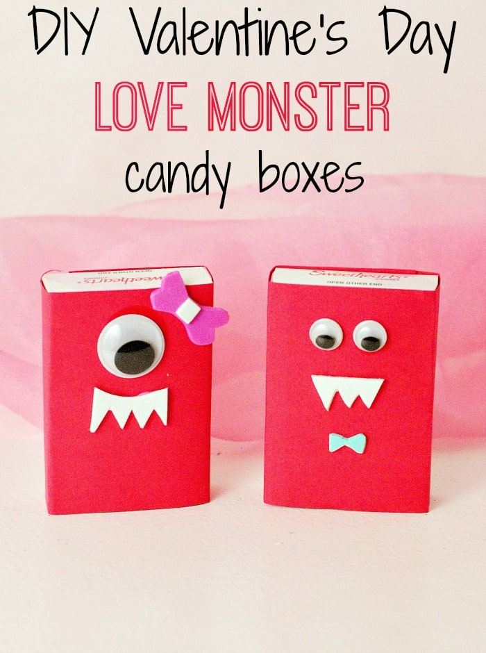DIY Valentine's Day candy boxes