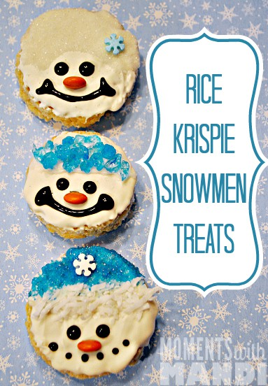 Rice Krispie Snowmen Treats