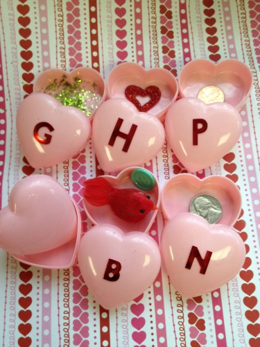 Sound Matching Valentine Hearts Learning Activity