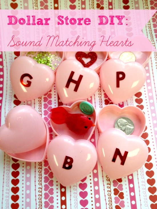 Dollar Store DIY: Sound Matching Valentine's Day Hearts