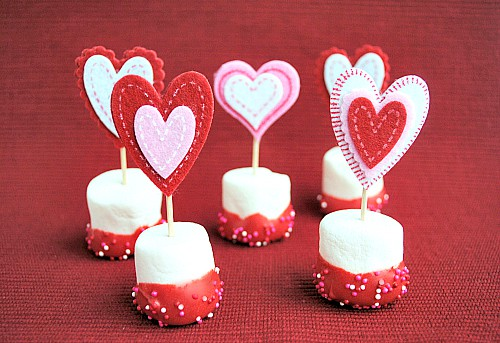 Valentine Marshmallow Pops recipe
