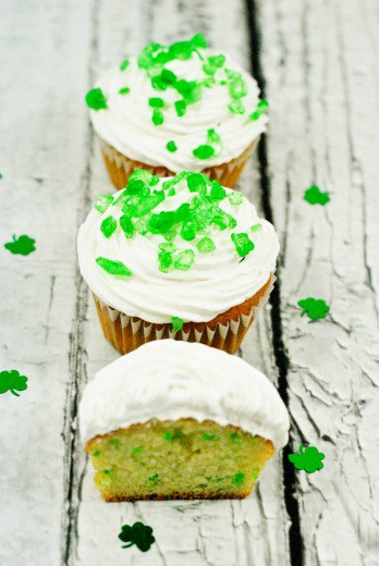 St. Patrick's Day Surprise Inside Cupcakes