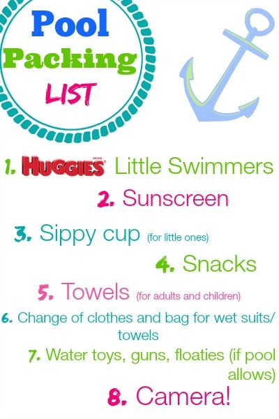 Family Swimming Packing List