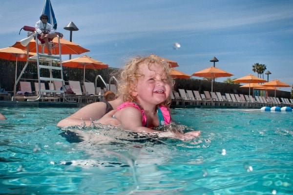 Haley during swim class