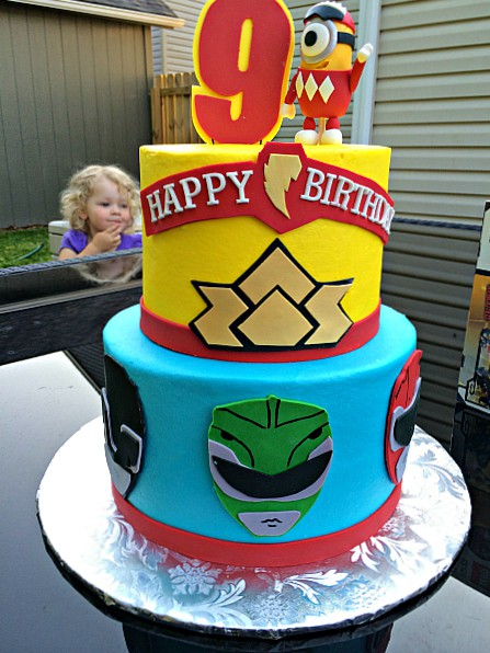 Power Rangers Cake for a boy birthday