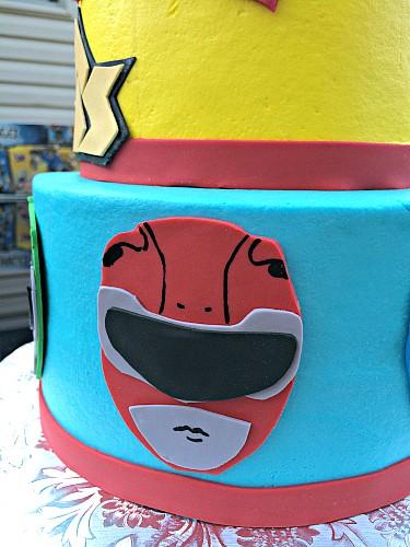 Power Rangers Cake An Awesome Birthday Cake