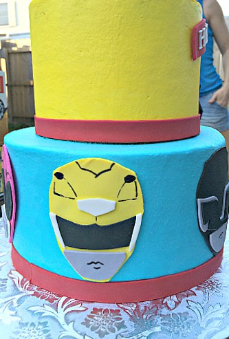 Power ranger birthday cake images