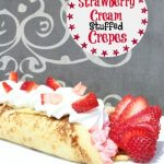 Strawberry Cream Stuffed Crepes