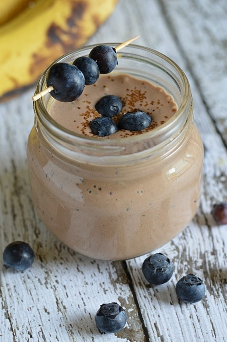 Blueberry Banana Nutella Smoothie Recipe