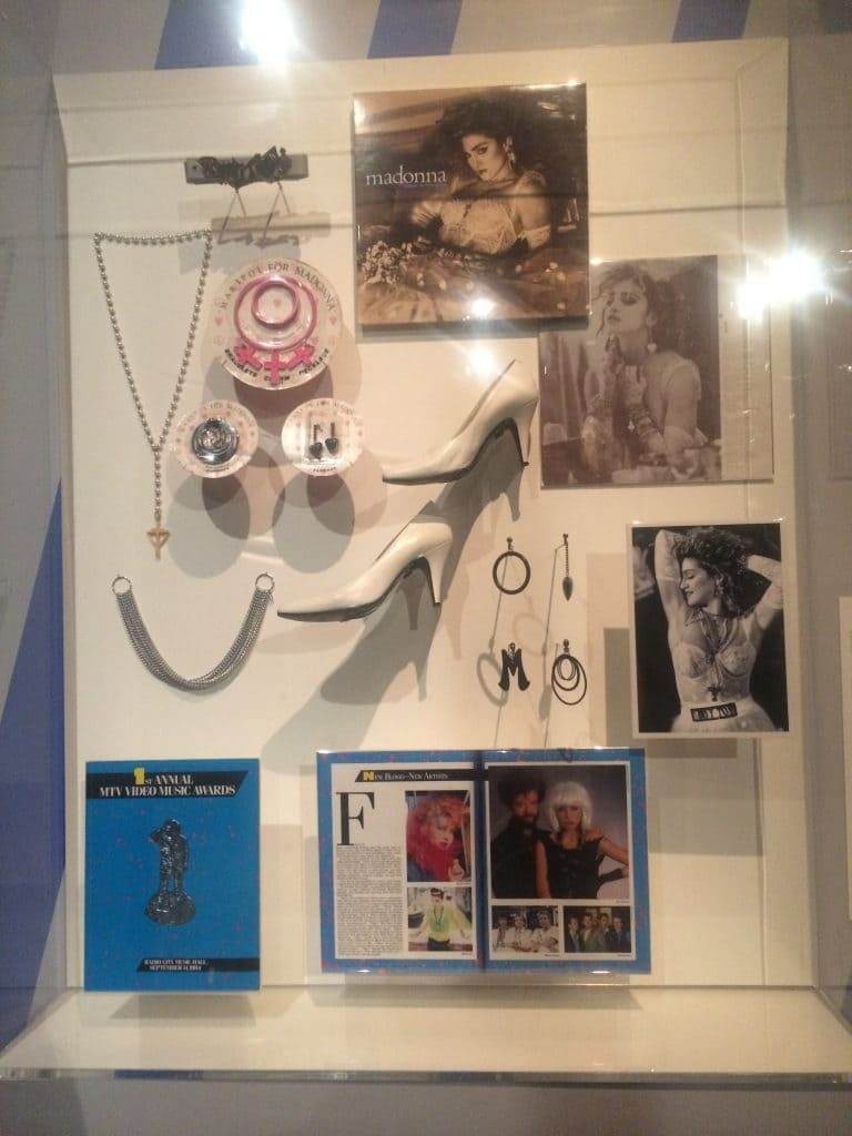 Madonna at Rock n Roll Hall of Fame Museum