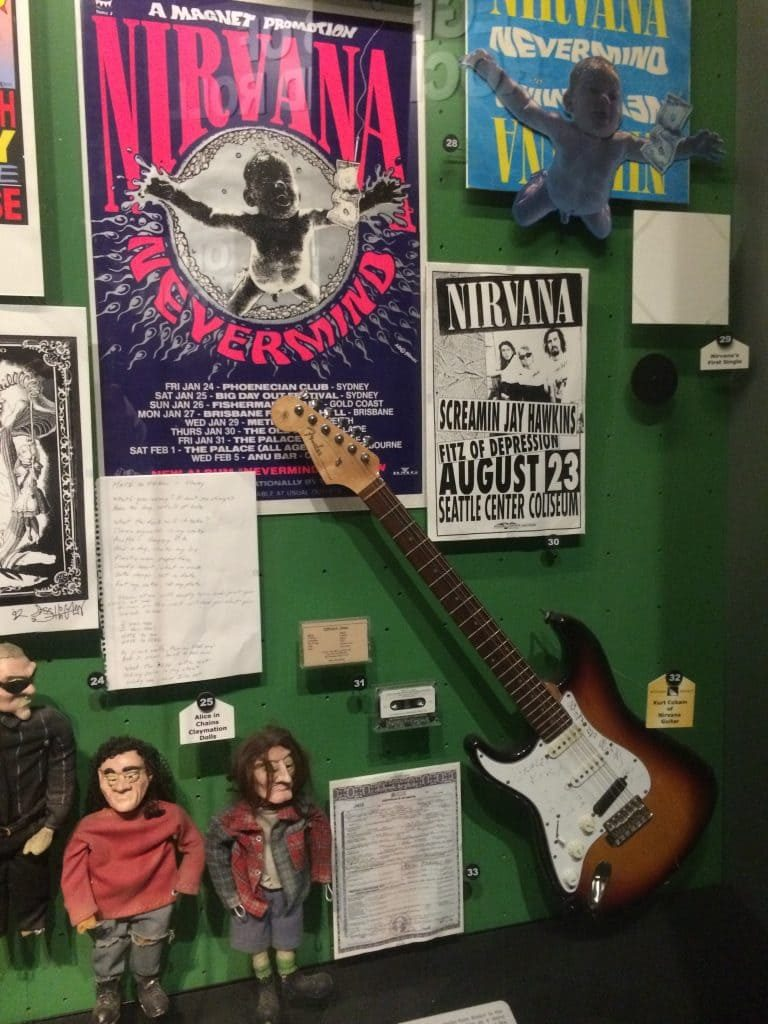 Nirvana at the Rock n Roll Hall of FAme Museum