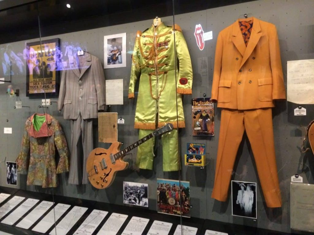 The Beatles at the Rock n Roll Hall of Fame and Museum