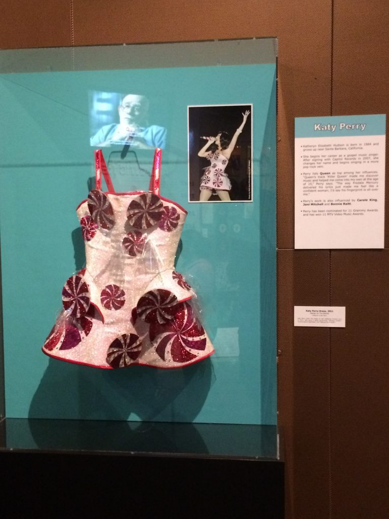 Katy Perry outfit at Rock n Roll Hall of Fame and Museum