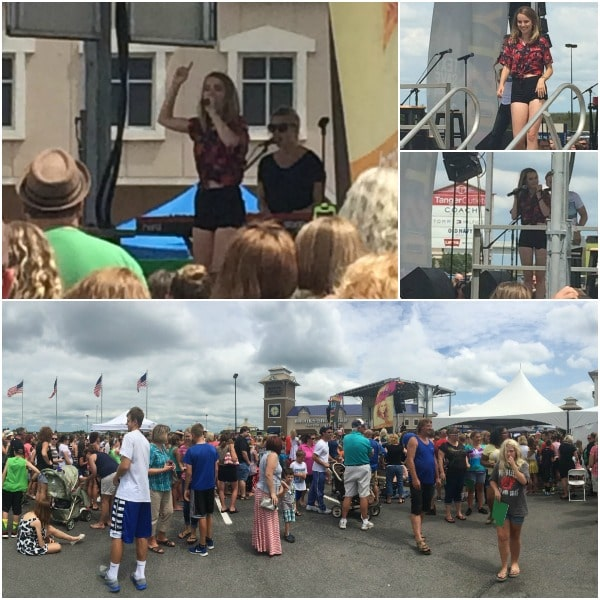 Bridgit Mendler Tanger Outlets at Jeffersonville Concert