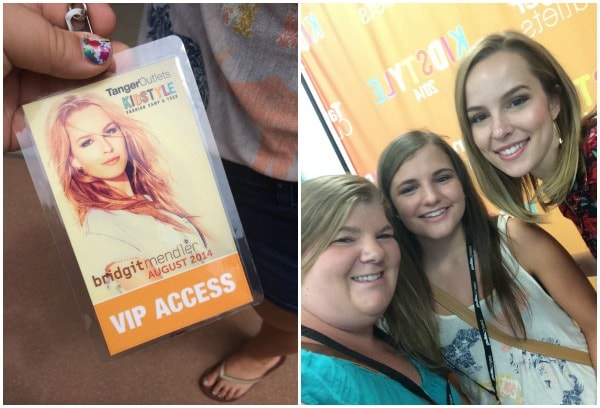 Bridgit Mendler VIP and fan selfie