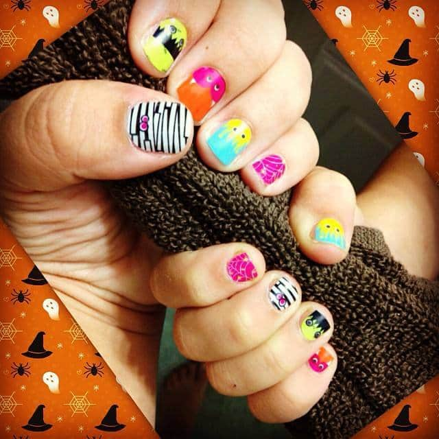 Monster Mash Halloween wraps from Jamberry Nails