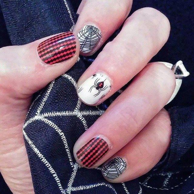 Widows Web Jamberry Nails Halloween nail wrap