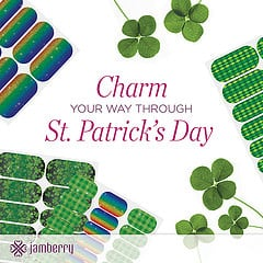 St. Patrick's Day inspired nail art from Jamberry Nails - request a free sample