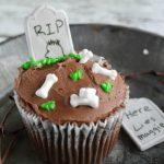 Halloween RIP Tombstone Cupcakes