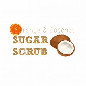 Orange Coconut Sugar Scrub Printable Tag