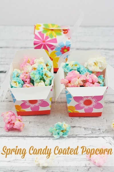 Spring Candy Coated Popcorn
