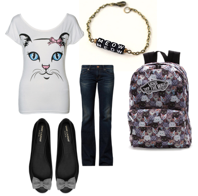 Teen Girl Cat Lady Outfit