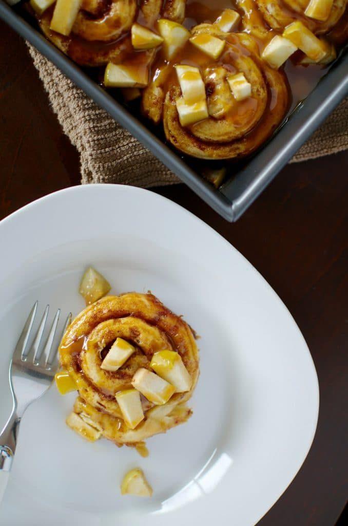 Caramel Apple Cinnamon Rolls recipe