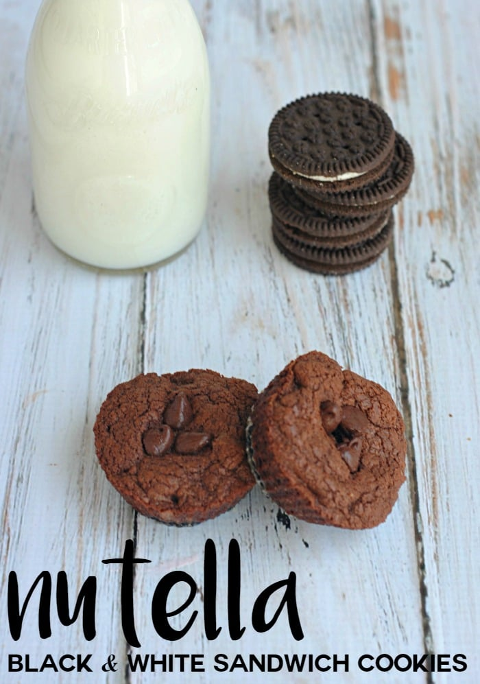 Nutella Black and White Sandwich Cookies