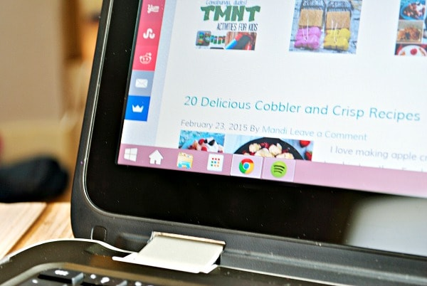 HP x360 with touchscreen