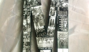 High School Graduation Gift DIY Photo Collage Initial