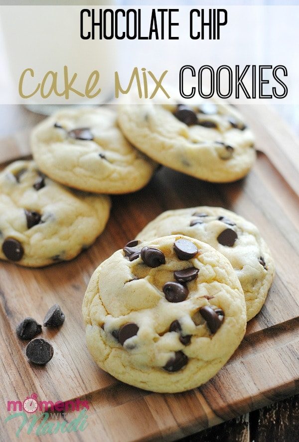 Easy Chocolate Chip Cookies From Cake Mix
