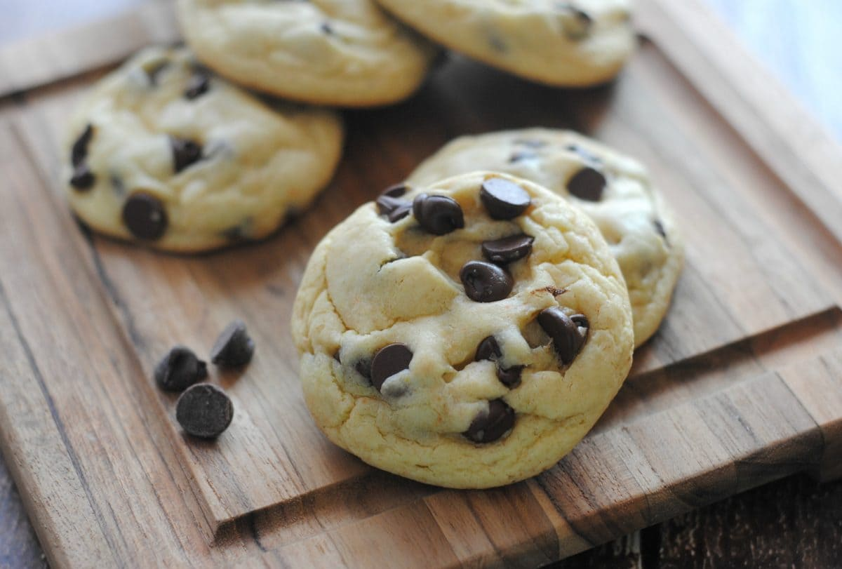 Chocolate Chip Cake Mix Cookies - Moments With Mandi