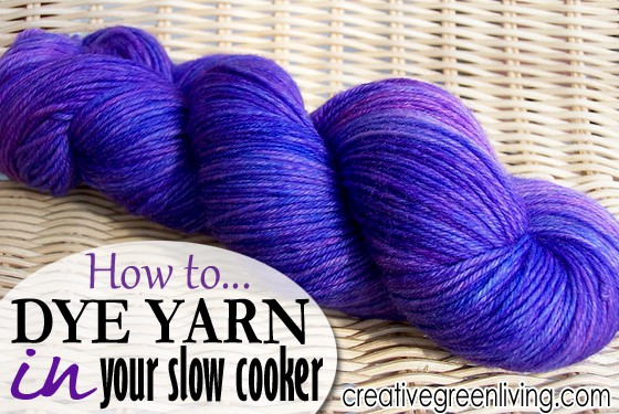 how to dye yarn in your slow cooker layers copy