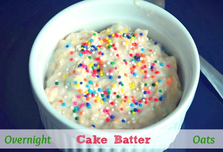 Overnight Cake Batter Oats