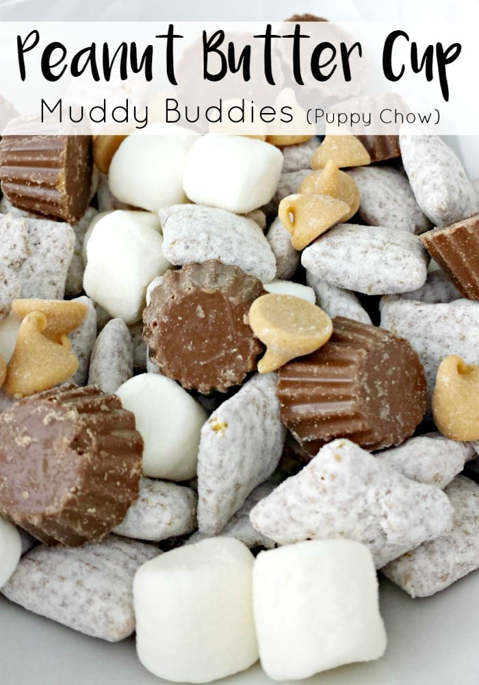 Peanut Butter Cup Muddy Buddies Puppy Chow Recipe