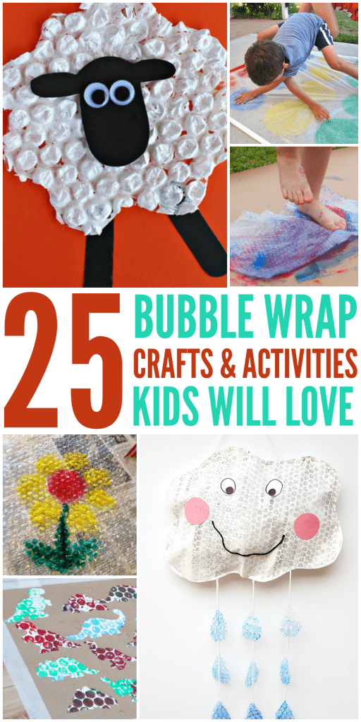 Bubble Wrap Crafts and activities for kids indoor and outdoor fun