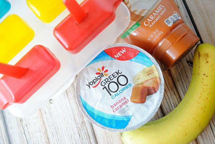Banana Caramel Frozen Yogurt Pops