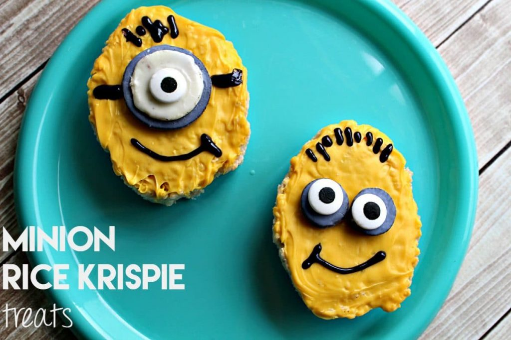 Minions Rice Krispie Treats