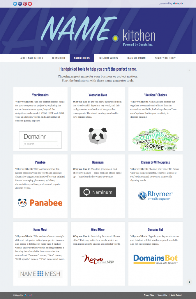Name.Kitchen's Naming Tools for your business