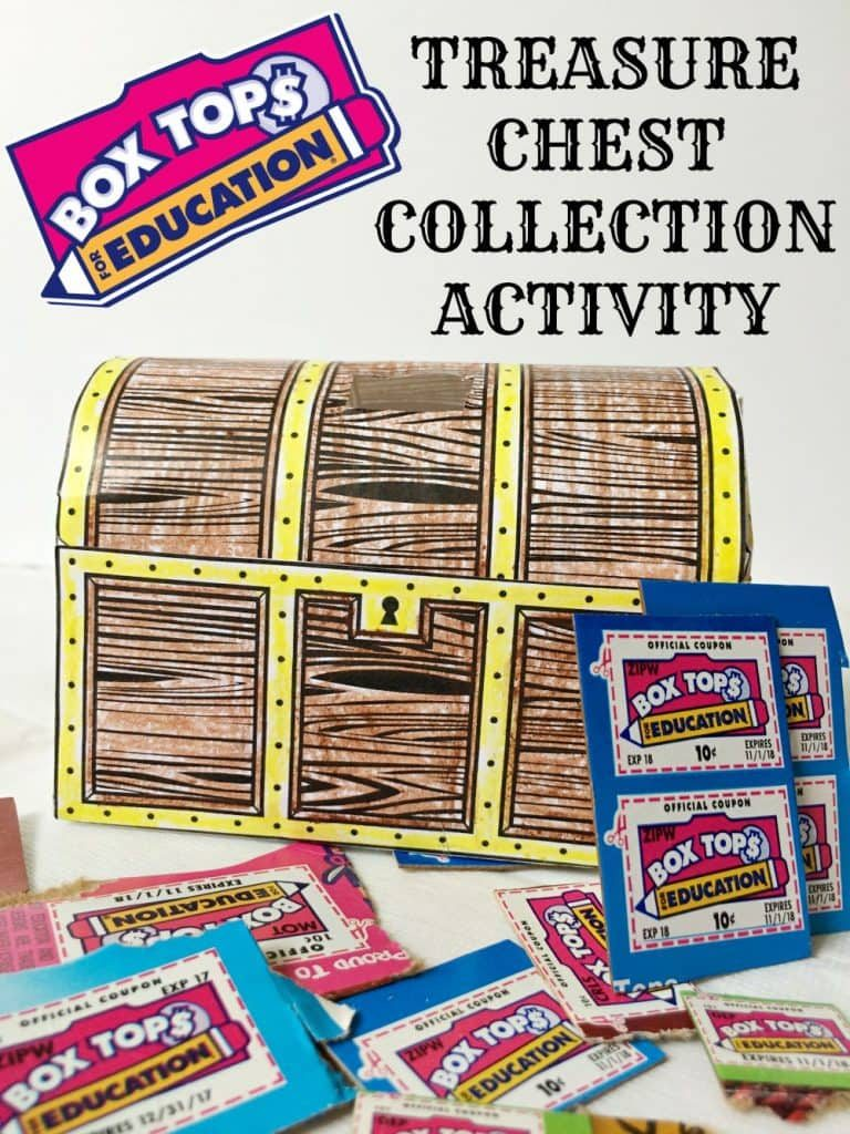 Box Tops for Education Treasure Chest Collection Activity Printable