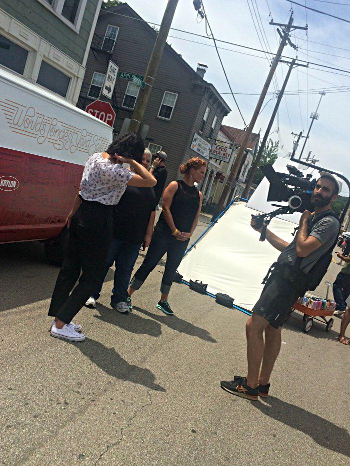 Krylon 127 Yard Sale filming