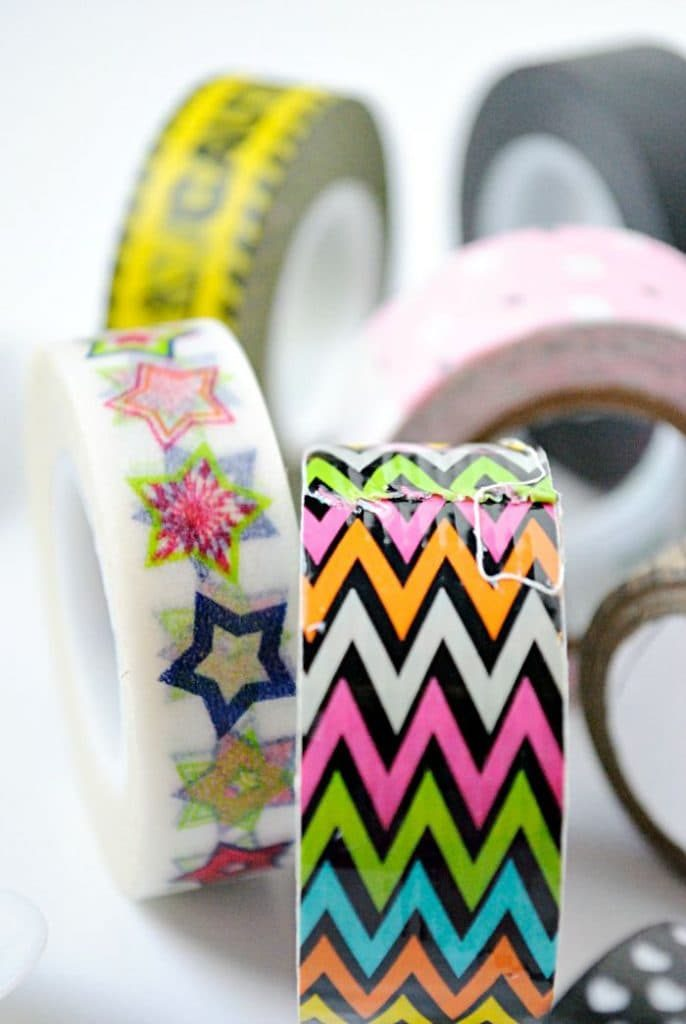 Use bits of washi tape to decorate plastic spoons and personalize your party utensils for birthdays and other events